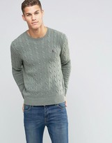 Polo Ralph Lauren Cotton Cable Knit Jumper In Regular Fit