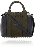 Alexander Wang Rockie In Nubuck Grass And Soft Pebbled Neptune