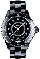 Chanel J12 Black 38MM Ceramic Watch with Diamonds