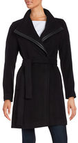 Calvin Klein Petite Wool Wrap Trench Coat