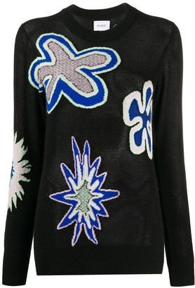 Barrie Floral Intarsia-Knit Jumper