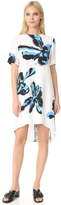 Cédric Charlier Short Sleeve Printed Dress