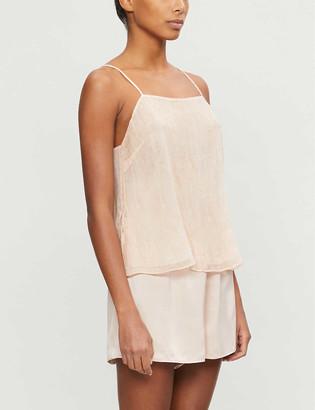 Skin Trista silk-blend satin pyjama bottoms