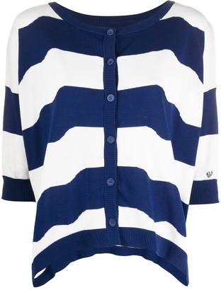 Twin-Set Slouchy Striped Cardigan