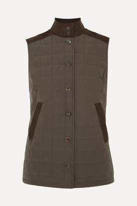 James Purdey & Sons - Studland Quilted Paneled Cotton Vest - Brown