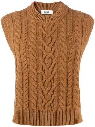 BLAZÉ MILANO Cable-Knit Sweater Vest