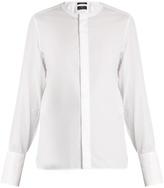 Women Collarless Shirt - ShopStyle