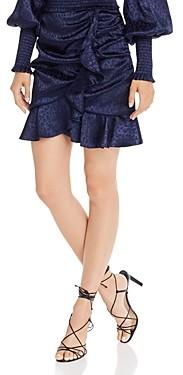 Aqua Leopard Pattern Ruffle Trim Skirt - 100% Exclusive