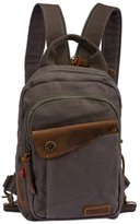 Oncefirst Men's Army School Canvas Backpack