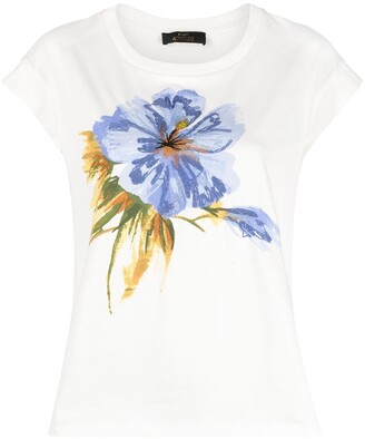 Twin-Set floral-embroidered cotton T-Shirt