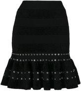 Alexander McQueen drop-waist skirt - women - Polyamide/Polyester/Spandex/Elastane/metal - S