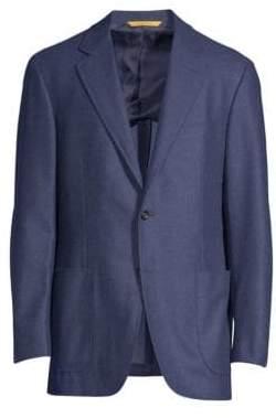 Canali Men's Classic-Fit Wool Blazer - Blue - Size 56 (46) R
