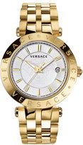 Versace 42mm V-Race Bracelet Watch w/ Interchangeable Rings, Golden