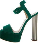 Giuseppe Zanotti Suede Platform Sandals w/ Tags