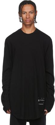 Julius Black Draped Long Sleeve T-Shirt
