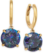 Kate Spade Gold-Tone Blue Stone Drop Earrings