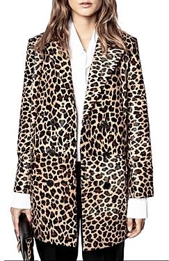 Zadig & Voltaire Magic Poulain Leopard Print Coat