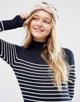 Asos Chunky Headband With Braid Front