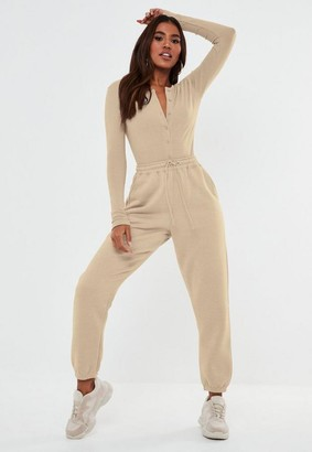 Missguided Tall Cream Oversized 90S Joggers