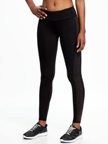 Old Navy Go-Dry Cool Mid-Rise Fitted Running Tights for Women