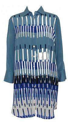 Barba Multicolour Silk Top for Women
