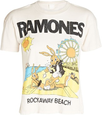 MadeWorn Ramones Rockaway Cropped T-Shirt