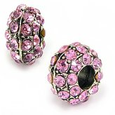 Olympia Pink Rhinestone Bead Charm - Compatible & Fits Major Brand Name Brand Bracelets