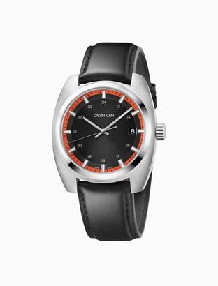 Calvin Klein Achieve Leather Watch