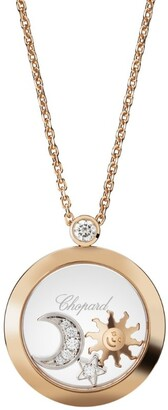 Chopard Rose Gold and Diamond Happy Diamonds Pendant