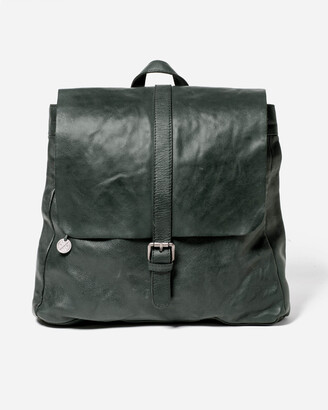 Stitch & Hide - Women's Green Leather bags - Hamburg Backpack - Size One Size at The Iconic
