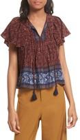 Sea Women's Ruffle Sleeve Silk Top