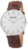 August Steiner Alloy & Leather Watch, 44mm