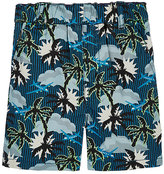Stella McCartney Palm Tree-Print Cotton Shorts