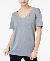 Jessica Simpson The Warm Up Juniors' Cutout Graphic-Back T-Shirt