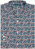 Perry Ellis Multicolor Paisley Print Shirt