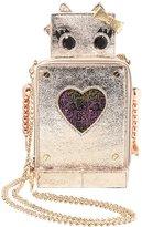 Betsey Johnson Love Machine Metallic Robot Cross-Body Bag
