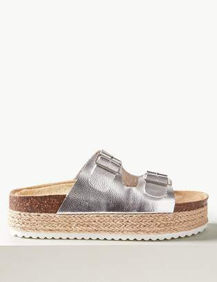 M&S CollectionMarks and Spencer Two Strap Flatform Espadrille