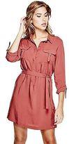 GUESS Women's Effie D-Ring Shirtdress