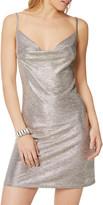 Ramy Brook Jac Metallic Cowl-Neck Mini Slip Dress
