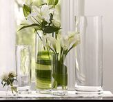 Pottery Barn Aegean Clear Glass Vases