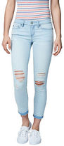 Aeropostale Womens Seriously Stretchy Destroyed Light Wash Crop Jegging