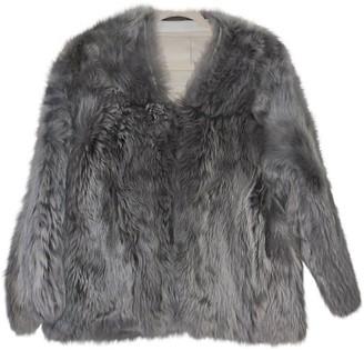 Karl Donoghue Grey Mongolian Lamb Jacket for Women