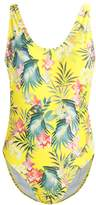 Missguided TROPICAL Swimsuit yellow