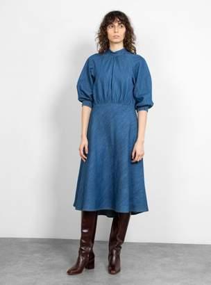 Drew Dress Mid Blue