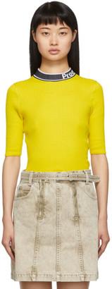 Proenza Schouler Yellow and Black Knit Combo T-Shirt