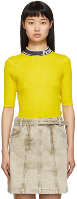Proenza Schouler Yellow and Black White Label Knit Combo T-Shirt