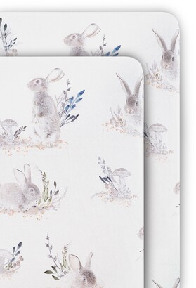 Oilo Cottontail 2-Pack Jersey Fitted Crib Sheets