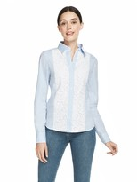 Draper James Lucy Embellished Lace Button Down Shirt