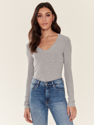 Splendid Long Sleeve V-Neck Tee