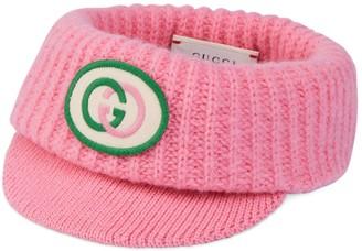 Gucci Children's wool visor with InterlockingG